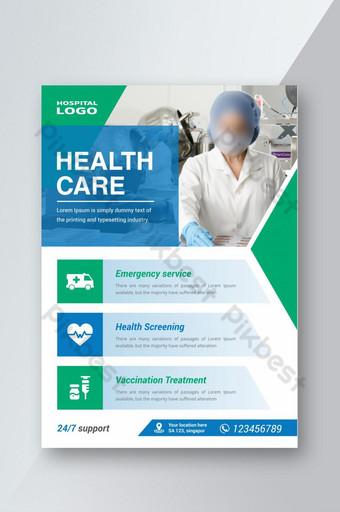 Promotion de la santé ou dépliant hospitalier et médical Modèle AI