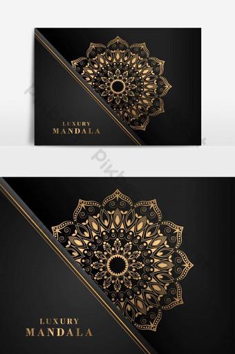ترف ماندالا ناقلات خلفية إسلامية مفهوم صور PNG قالب AI