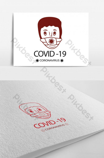 covid 19 corona virus concepto creativo arte lineal personajes de dibujos animados peligrosos logo quién Modelo AI