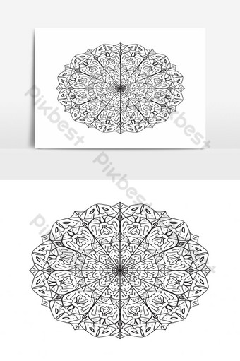 fondo de diseño de mandala de lujo Elementos graficos Modelo EPS