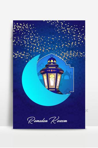 Blue Gradient Style Ramadan Kareem Background Backgrounds Template AI
