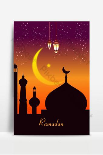 Ramadan Mubarak Background Design Backgrounds Template AI