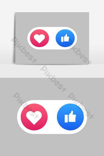 مثل الوسائط الاجتماعية ورموز القلب صور PNG قالب EPS