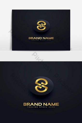 diseño de vector de logotipo de oro de lujo s Elementos graficos Modelo AI