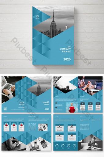 Дизайн брошюры для корпоративного бизнеса на 8 страницах шаблон AI