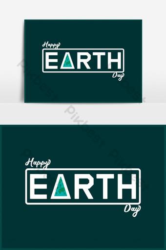 Carte de voeux de vecteur de typographie Happy Earth Day Concept Éléments graphiques Modèle AI
