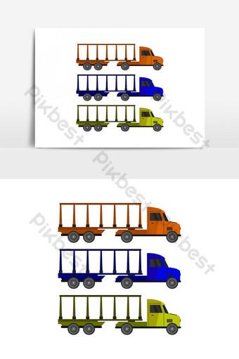 Icono de camión de transporte automático ilustrado en vector sobre fondo blanco. Elementos graficos Modelo EPS