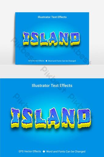 جزيرة جميلة ناقلات آثار النص التدرج القابل للتحرير صور PNG قالب AI