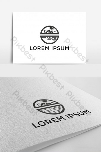 Sea and real estate logo design template Template EPS