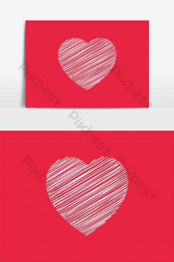 garabato corazón creativo amor logo vector Elementos graficos Modelo AI