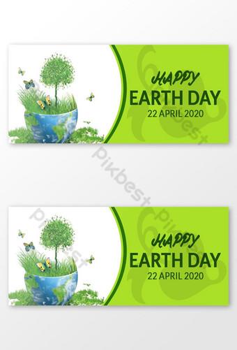يوم الأرض الفيسبوك صورة الغلاف قالب تصميم قالب PSD