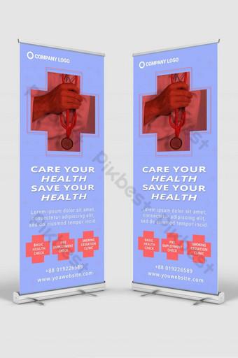 hospital enrollar señalización banner diseño plantilla maqueta psd Modelo PSD