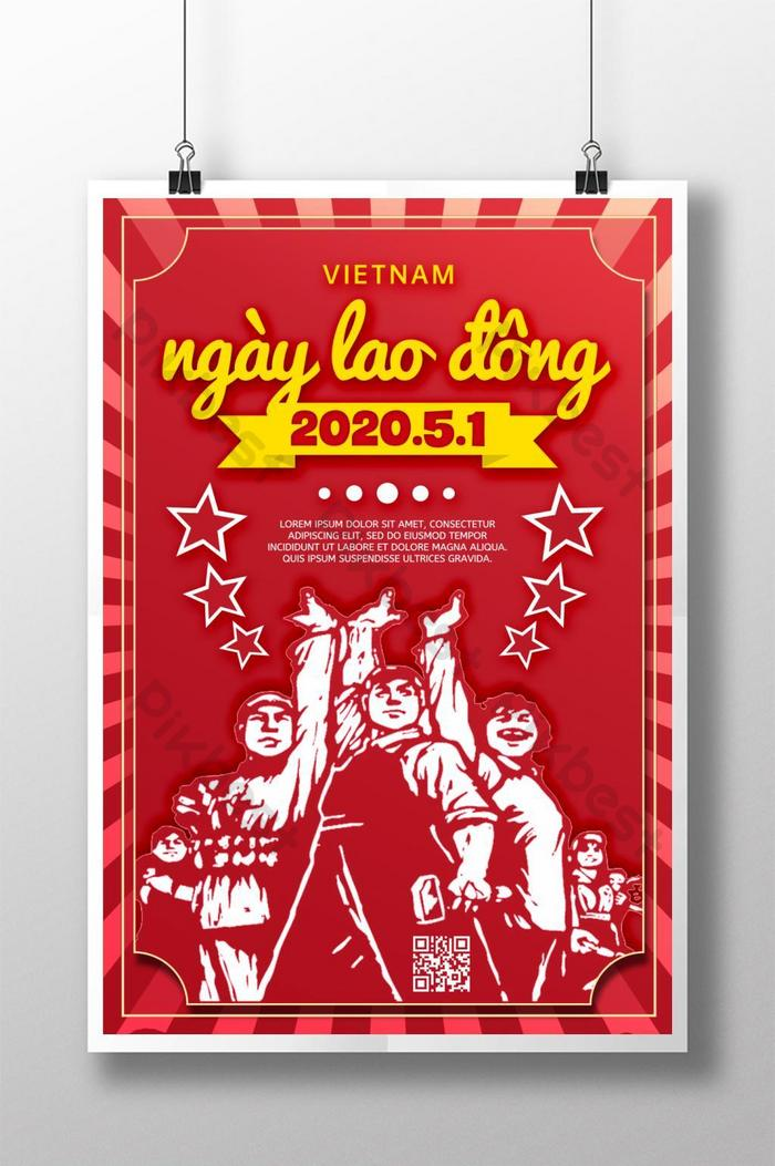 poster lễ kỷ niệm ngày lao động