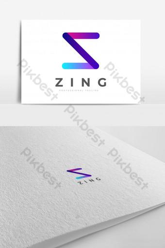 Plantilla de vector de diseño de logotipo letra z abstracto colorido eps 10 con variación de color múltiple Modelo EPS