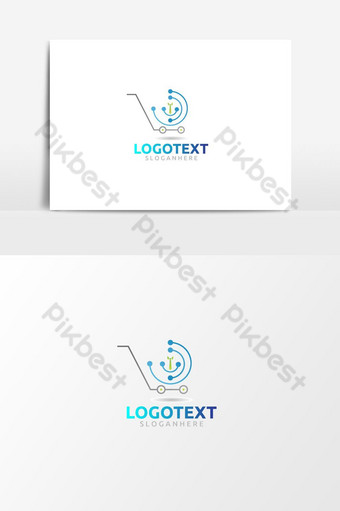 Educación en línea tienda logo icono plantilla vector diseño inspiración Elementos graficos Modelo AI
