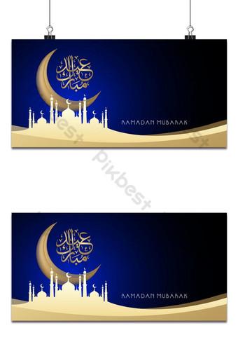 desain latar belakang spanduk islamic ramadan kareem Latar belakang Templat EPS