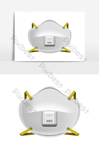 Elemento gráfico de máscara 3d n 95 Elementos graficos Modelo EPS