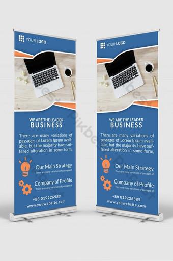 negocio roll up señalización banner diseño plantilla maqueta psd v5 Modelo PSD