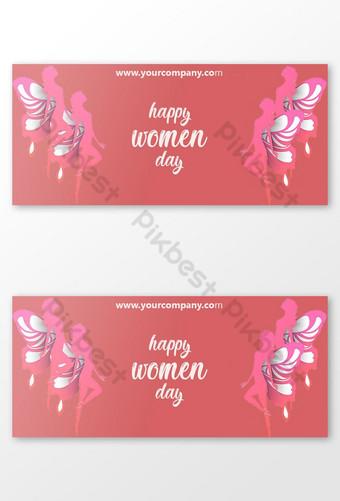 أنيقة صورة غلاف الفيسبوك يوم المرأة قالب PSD