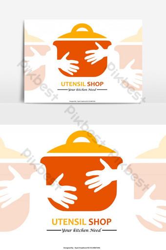 tienda de utensilios de cocina logo psd Elementos graficos Modelo PSD