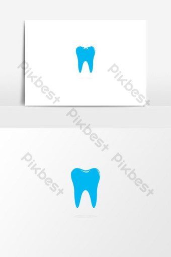 dibujado a mano icono de diente elemento gráfico vectorial icono de diente logo de dientes icono de diente dental ai Elementos graficos Modelo EPS