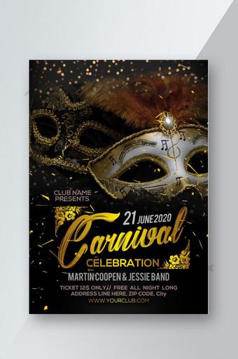 Flyer de fête de carnaval Modèle PSD