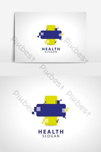 Diseño de ilustración de plantilla de logotipo de vector de cruz de salud Elementos graficos Modelo EPS