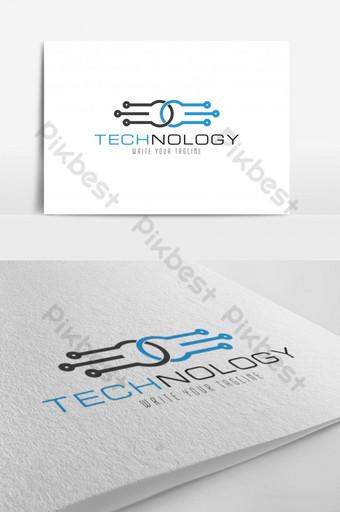 Templat desain vektor logo komunikasi Templat AI