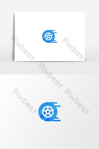 plantilla de logotipo de rueda de coche Elementos graficos Modelo EPS