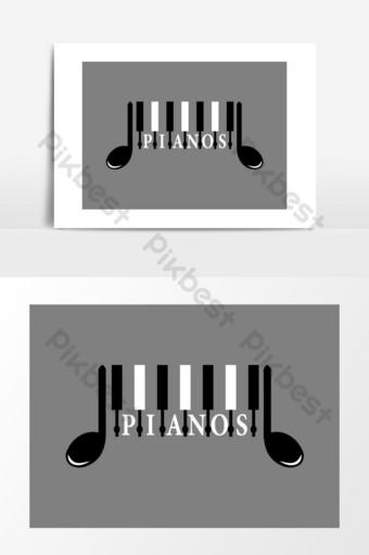 icono de piano vector logo de musica Elementos graficos Modelo AI