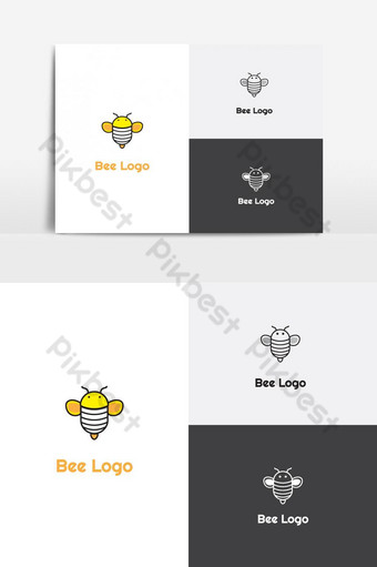 miel de abeja logo elemento de gráficos vectoriales creative bumble bee logo vector icono de abeja de miel ai Elementos graficos Modelo EPS