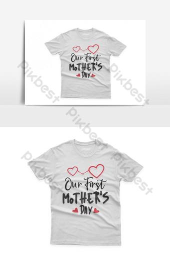 nuestro rápido diseño de camiseta tipográfica del día de la madre celebración del día de la madre santa Elementos graficos Modelo EPS
