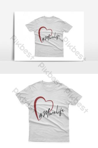 mamá vida diseño de camiseta tipográfica celebración del día de la madre de santa Elementos graficos Modelo EPS