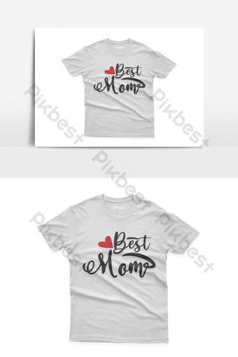 mejor mamá diseño de camiseta tipográfica celebración del día de la madre santa Elementos graficos Modelo EPS