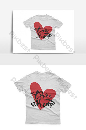amor mamá diseño de camiseta tipográfica celebración del día de la madre de santa Elementos graficos Modelo EPS