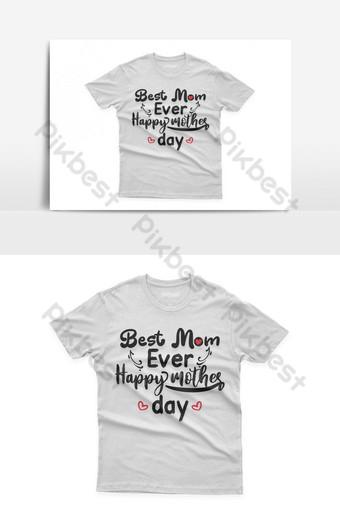 mejor mamá diseño de camiseta tipográfica celebración del día de la madre de santa Elementos graficos Modelo EPS