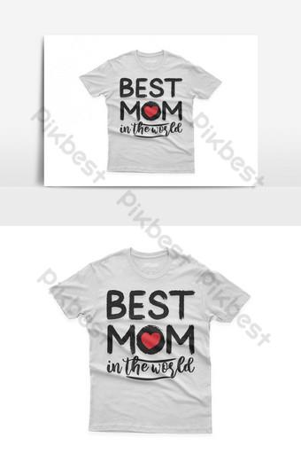 mejor mamá del mundo diseño de camiseta tipográfica celebración del día de la madre santa Elementos graficos Modelo EPS