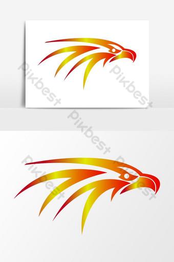 plantilla de diseño de logotipo de águila Ilustración Modelo AI