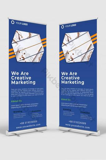 negocio creativo roll up banner señalización plantilla de diseño maqueta psd v1 Modelo PSD