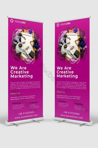 negocio creativo roll up banner señalización plantilla de diseño maqueta psd v2 Modelo PSD