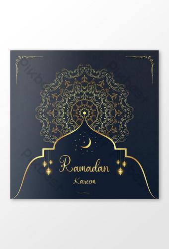 Ang Ramadan Kareem Islamic maluho Arab background ang bagong disenyo ng banner sa social media Template EPS