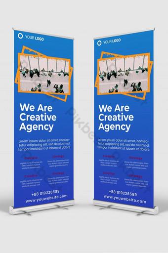 negocio creativo roll up banner señalización plantilla de diseño maqueta psd v6 Modelo PSD