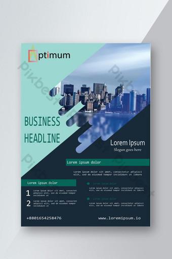 modèle de flyer d'entreprise bleu moderne créatif psd Modèle PSD