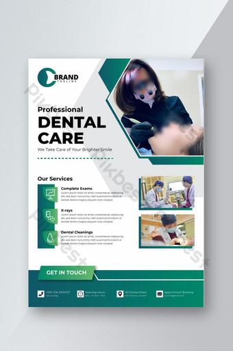 Conception de flyers dentaires médicaux Modèle AI