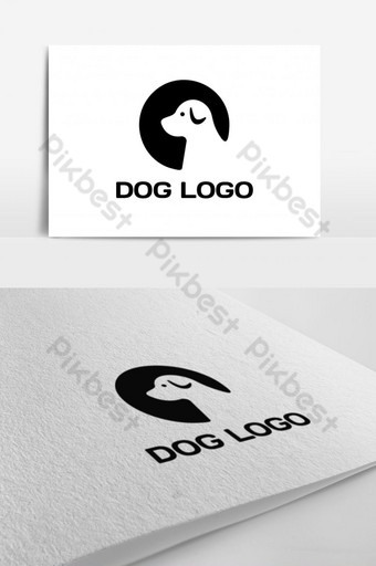 diseño de logotipo de perro simple o plantilla de icono de vector Modelo EPS