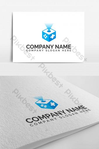moderno juego cubo empresa de juegos estudio vector símbolo icono logo Modelo EPS