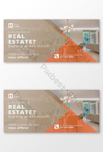 banner de anuncio de facebook de bienes raíces 1200 x 627 Modelo PSD