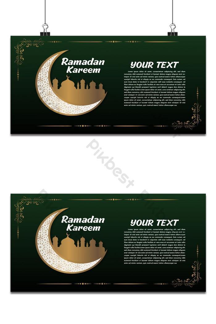 priorità bassa di disegno islamico di ramadan kareem o eid mubarak