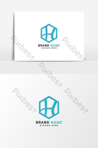 carta logo diseño de logotipo minimalista vector logo h logo elemento plantilla de logotipo Elementos graficos Modelo EPS