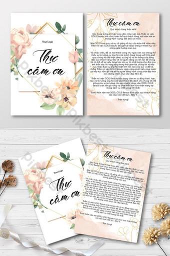 Carte d'invitation avec des fleurs roses et des cartes d'invitation aquarelle cadre doré Modèle AI